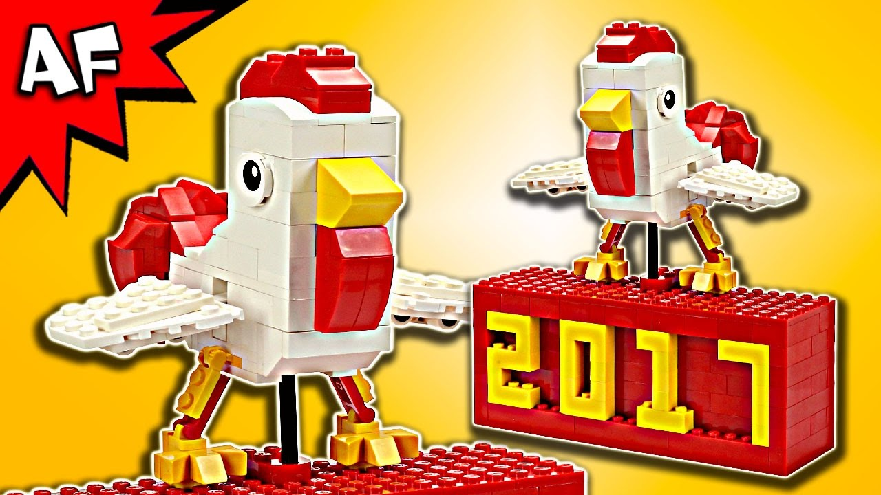 happy chinese new year custom lego rooster moc speed build - Chinese New Year Customs