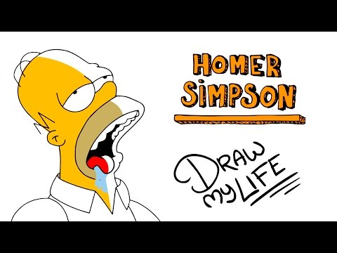 HOMER SIMPSON | Draw My Life