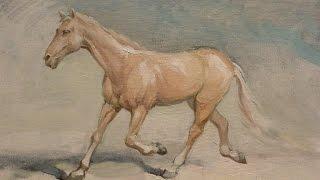 """Как рисовать лошадь? """"Породистый скакун"""". Живопись маслом. Художник Алексей Епишин"""