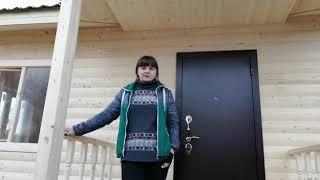 Каркасный дом 7.5х8 по проекту «К 118» в комплектации под ключ Брусина