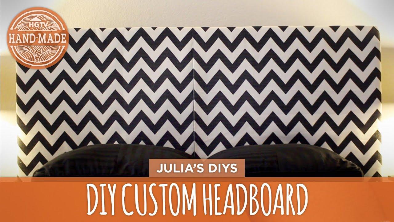 How to Make a Custom Headboard DIY Dorm Decor HGTV Handmade