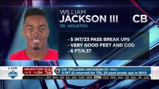 2016 NFL Draft Rd 1 Pk 24 | Cincinnati Bengals Select CB William Jackson III