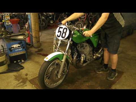 Our Kawasaki H2 750 Post Classic Race Bike starting up for the first time. WE LOVE OUR 2 STROKES