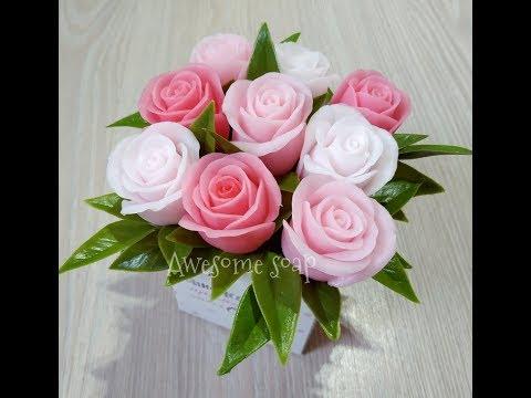 Мыловарение:) Букет с новым бутоном розы