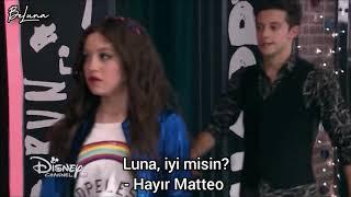 Soy Luna 2 - 21. Bölüm - Luna ve Matteo konuşurken Fernanda geliyor -  Türkçe Altyazılı / BeLuna