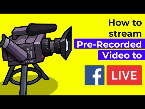 How to stream Pre-Recorded Video to Facebook | Pre-Recorded Live Stream Tutorial
