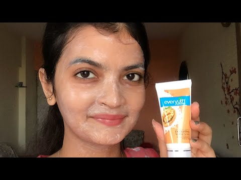 How to use Face Scrubs   Everyuth Scrub   How to Apply Face Scrub at Home Hindi   Itsarpitatime