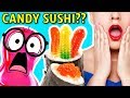 CANDY SUSHI vs. REAL SUSHI CHALLENGE!