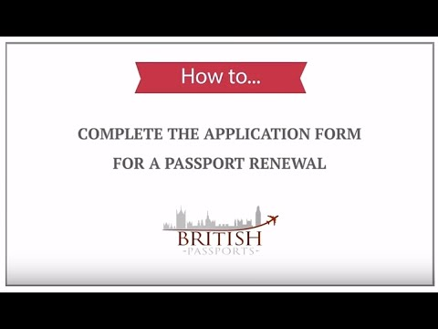 Pport Renewal: How to Complete the Application Form - YouTube on