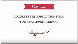 Passport Renewal: How to Complete the Application Form