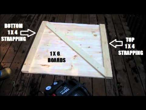 How To Build A Crawl Space Door Youtube