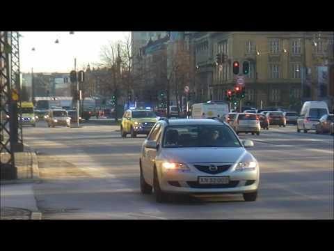 Mercedes ML320 Emergency Doctor Car - Copenhagen Fire Brigade + Mercedes Sprinter Ambulance - Falck