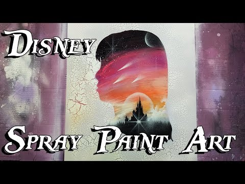 [TUTO] DISNEY SPRAY PAINT ART