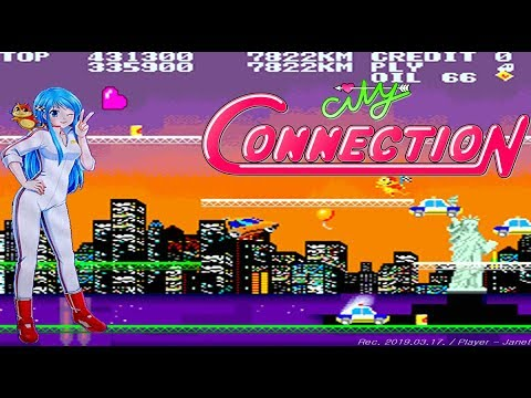 City Connection - 1CC (1 Loop / Not use the warp balloons) / シティコネクション / 시티 커넥션