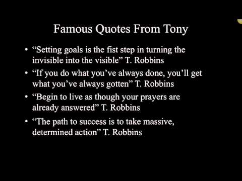 Anthony robbins relationships