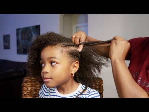 💞HOW TO BRAID KIDS NATURAL CURLY HAIR TUTORIAL💞