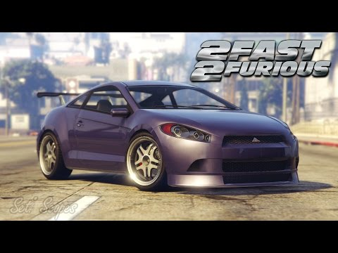 Fast Furious Romans Mitsubishi Eclipse Car Build Gta - 2 fast 2 furious cars