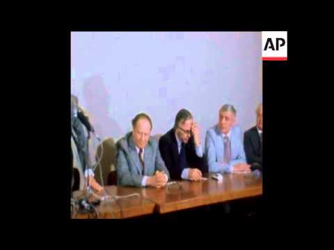 SYND 14-3-74 KREISKY AND SOCIALIST INTERNATIONAL DELEGATION ARRIVE