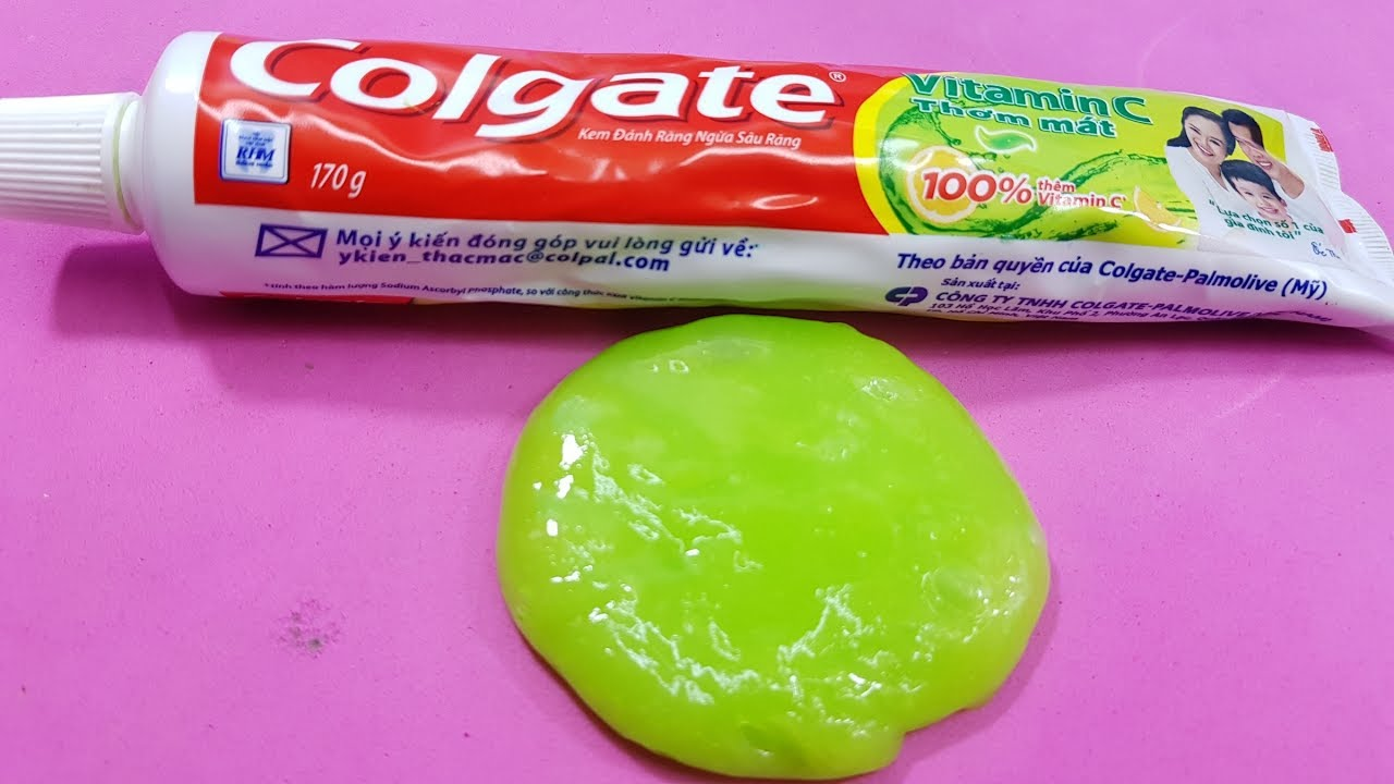 Colgate toothpaste slime with baking soda no glue no borax 2 colgate toothpaste slime with baking soda no glue no borax 2 ingredients toothpaste slime ccuart Choice Image