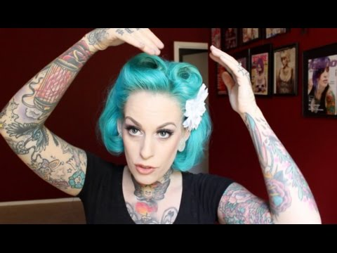 pin up style for short hair victory roll pinup hair with kandy k 5792 | hqdefault