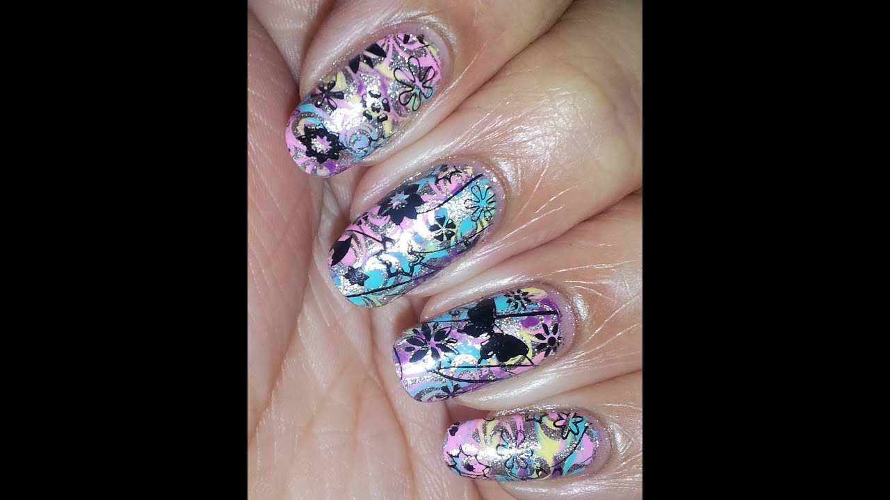 Double nail stamping ft pueen encore plates youtube prinsesfo Choice Image