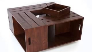 Square Coffee Table, Shelf Storage