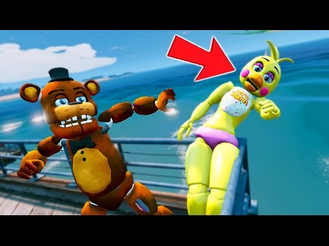 Thumbnail: WITHERED FREDDY THROWS CHICA OFF THE PIER! (GTA 5 Mods For Kids FNAF Funny Moments) RedHatter
