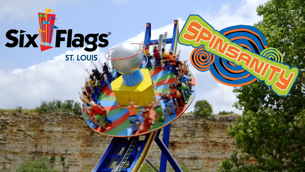 Spinsanity Flat Ride! New At Six Flags St Louis In 2017 ...