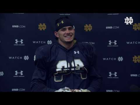 @NDFootball | Drue Tranquill Post Practice Interview Navy Week (2018)