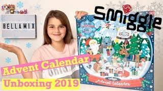 NEW 2019 Smiggle Christmas Advent Calendar Unboxing   Spoiler Full Contents Revealed   Bella Mix