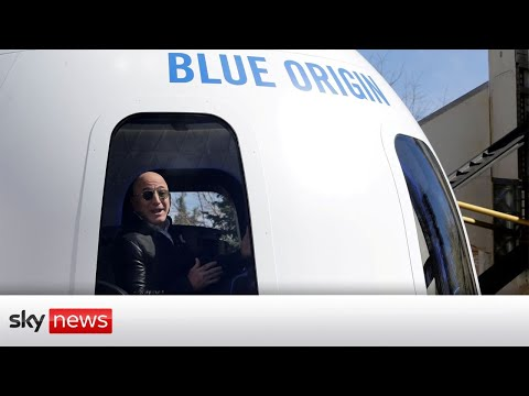 Watch live: Amazon founder Jeff Bezos launches Blue Origin to the edge of space