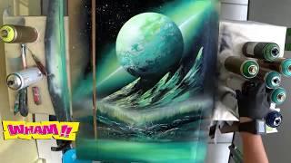 Anjaaaay!!!! Bikin Lukisan Tanpa Kuas Hasilnya Benar-benar Keren