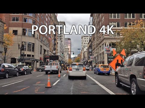 Driving Downtown - Portland Oregon USA