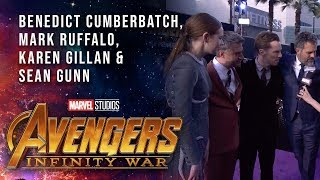 Ruffalo, Cumberbatch, Gillan and Gunn Live at the Avengers: Infinity War Premiere