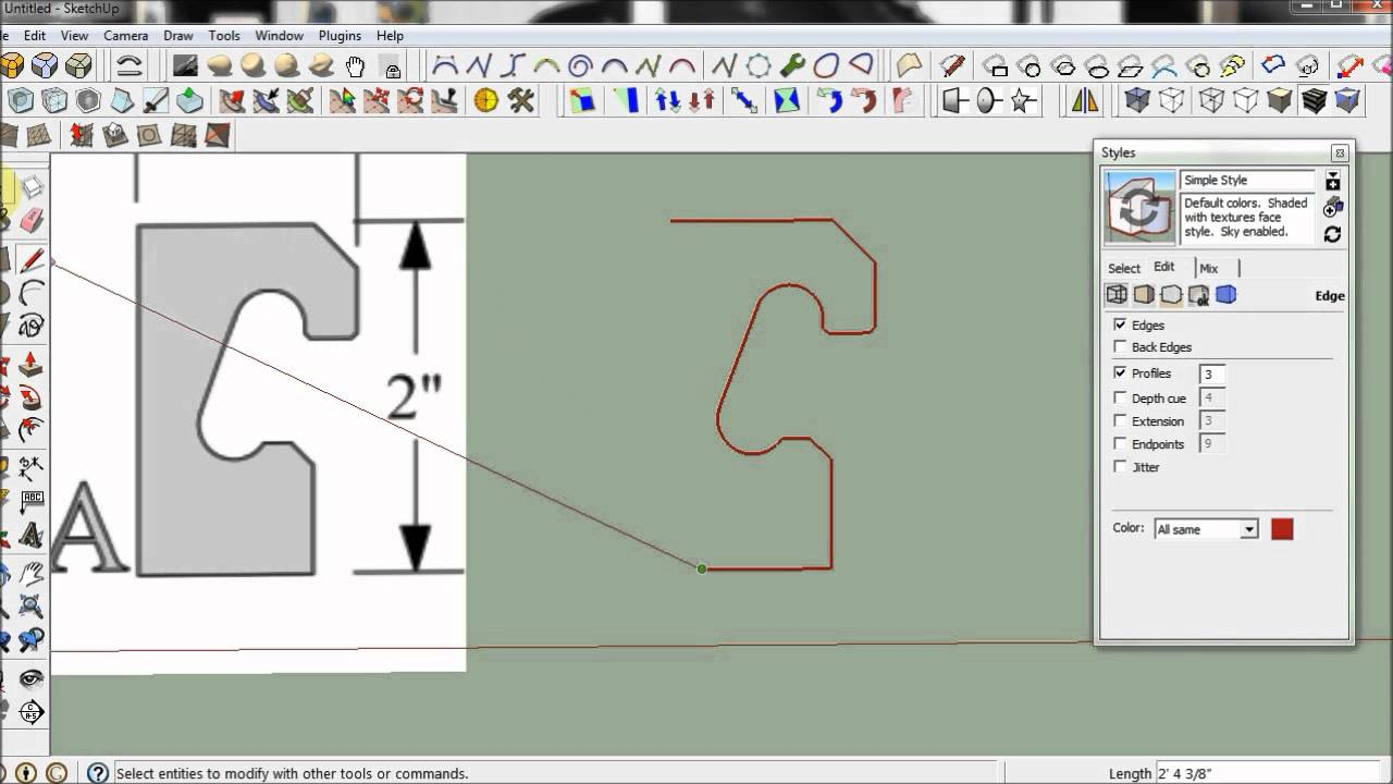 Trace Using SketchUp (And When Not To For CAD/CNC) | Scan2CAD
