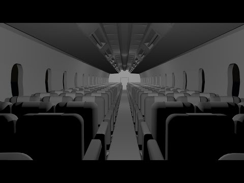 Maya 2014 tutorial : How to model an Airplane interior