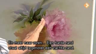 Видеоурок  Гарри Дженкинса   Lichtgevende Theerozen.