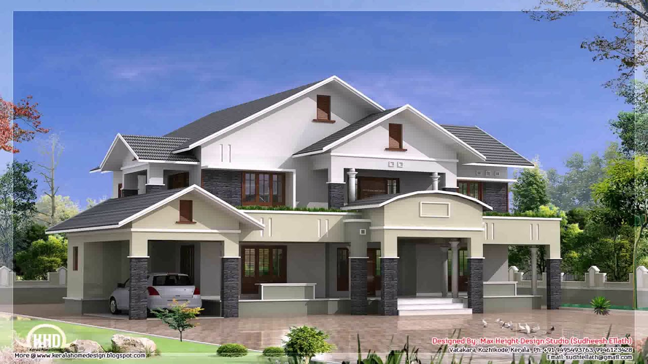4 Bedroom Single Storey House Plans In Ghana   YouTube 4 Bedroom Single Storey House Plans In Ghana