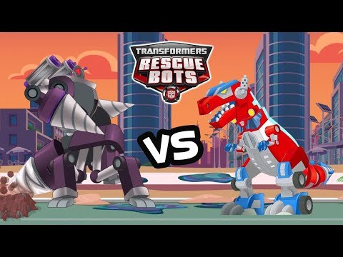 Transformers Rescue Bots: Disaster Dash - Optimus Vs Boss MorBot