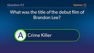 Brandon Lee Quiz   When was Brandon Lee made his Television debut? and more questions
