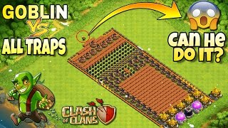 CLASH OF CLANS-GOBLIN VS ALL BOMBS!-OMG CAN GOBLINS DO IT?-CLASH OF CLANS CHALLENGE TROLLING!