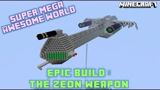 Minecraft Xbox 360: EPIC BUILD - The Zeon Space Cruiser - Completed Model - 1080p HD