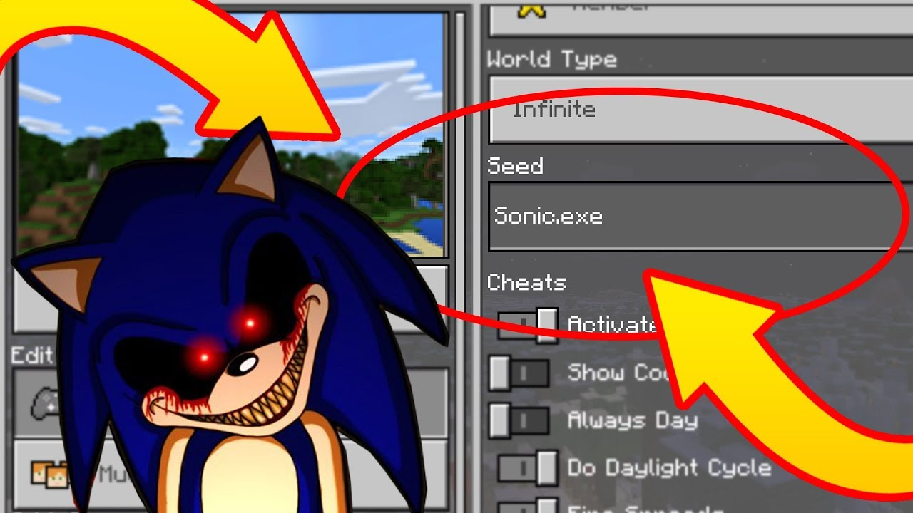 Most Creepy Sonic Exe Minecraft World Scary Sonic The Hedgehog Minecraft Seed Youtube