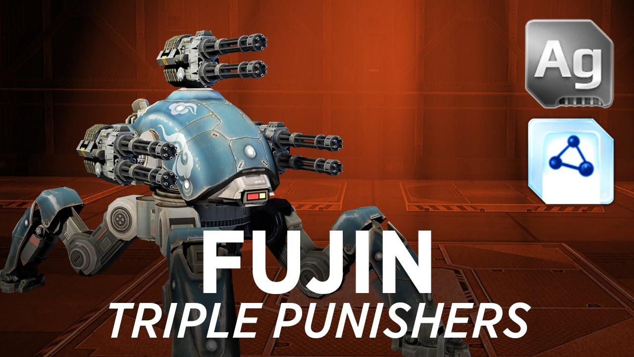 Zsonglor robot 5 labdaval 163 - War Robots Wr Fujin Triple Punishers W Gameplay