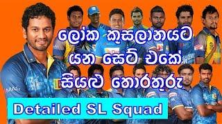 2019 ලෝක කුසලාන ශ්රී ලංකා සංචිතයේ සියළු තොරතුරු - All Details of Sri Lanka Squad for World Cup 2019