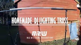 how to make a cheap dj lighting goal post truss