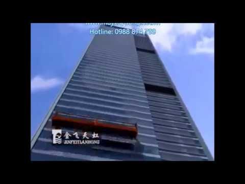 sàn treo thao tác, sàn treo gondola, thang treo lau kính, thang lau kính 0988874799 - YouTube