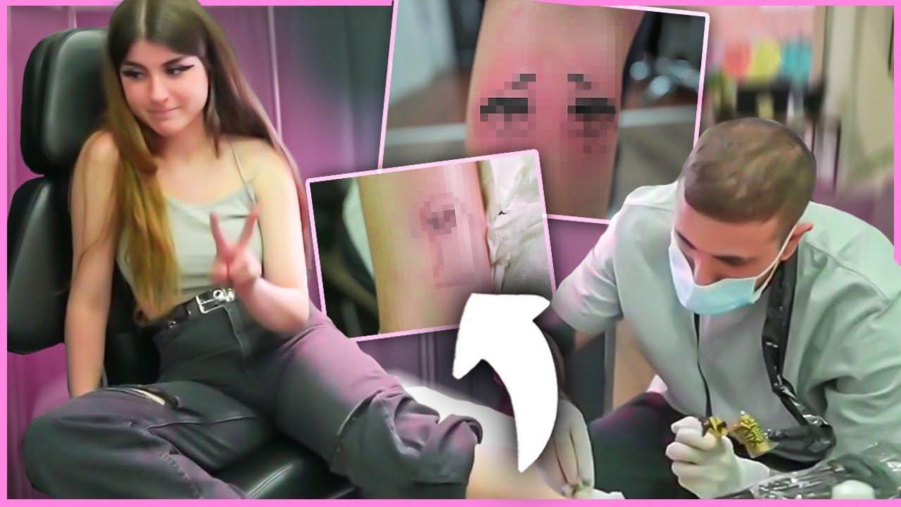 tatuándome en directo con gente del chat (ಥ _ ಥ)
