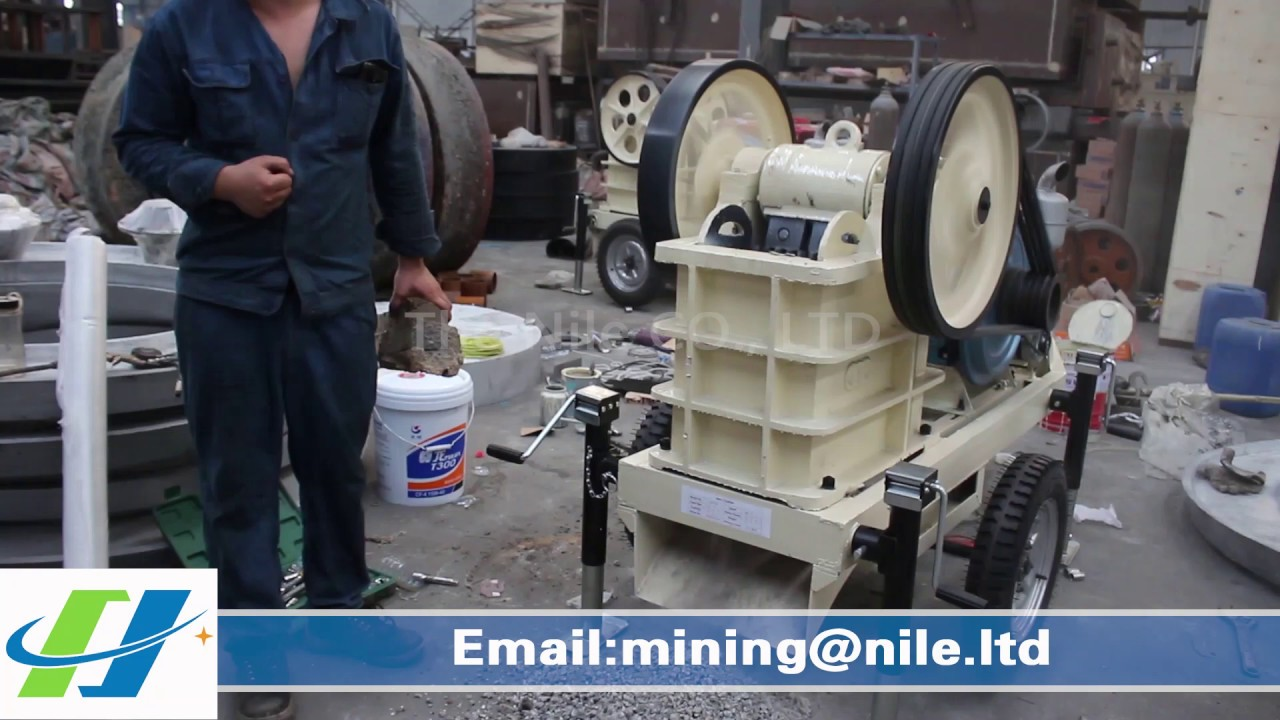Mini Mobile Diesel Engine Jaw Crusher Stone Machine In Mining For