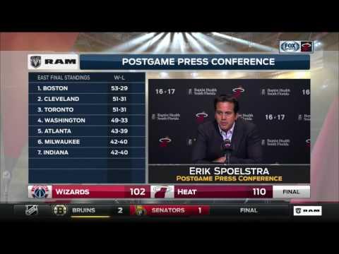 Erik Spoelstra -- Miami Heat vs. Washington Wizards 04/12/2017